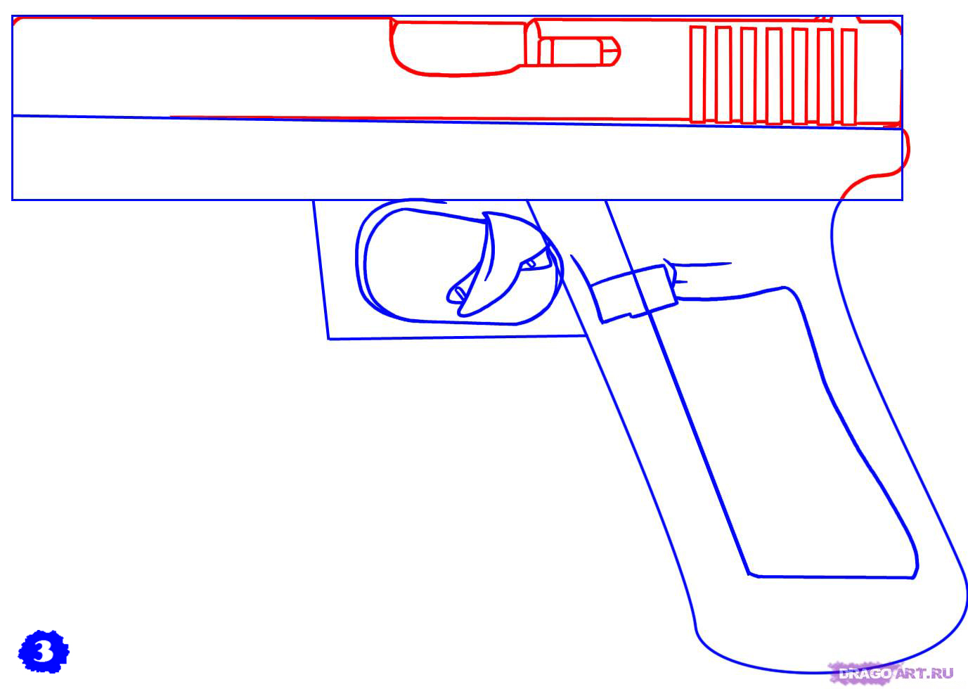 Как сделать пистолет из бумаги глок 17