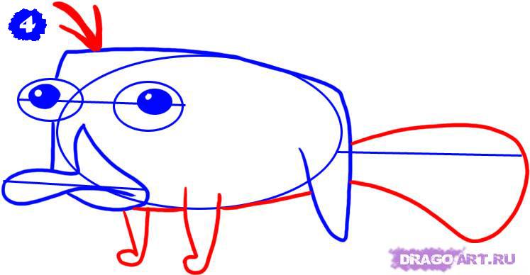 Как нарисовать перри утконоса