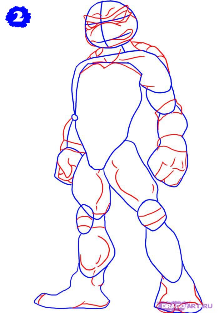 черепашки ниндзя рисунок для детей