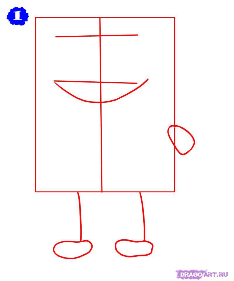 Как нарисовать губку боба карандашом для начинающих
