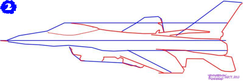 как рисовать самолет карандашом: