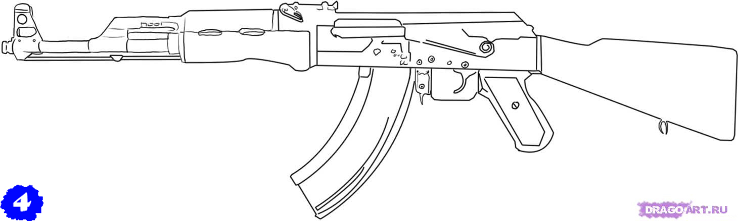 выглядеть готовый АК-47