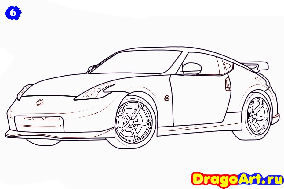 Как нарисовать Nissan 370Z