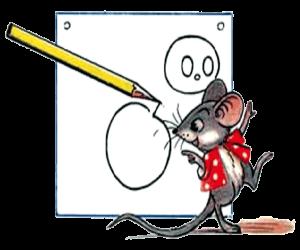 Как поэтапно нарисовать мышонка Джерри